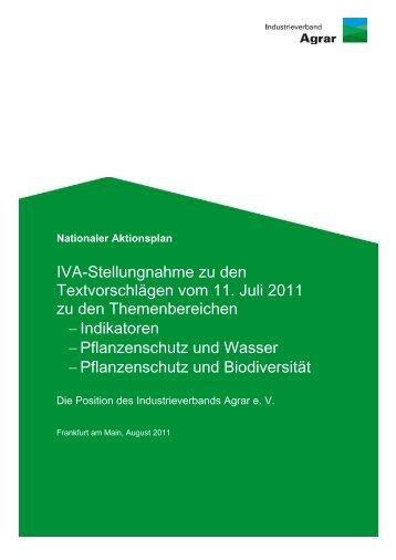 Pflanzenschutzpolitik in Deutschland - Nationaler Aktionsplan zur ...
