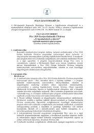 """PÁLYÁZATI FELHÍVÁS Pécs 2010 Európa Kulturális Fővárosa """"Új ..."""