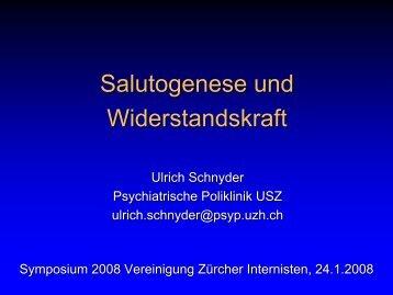 Salutogenese und Widerstandskraft - Vereinigung Zuercher Internisten
