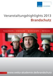 Seminar-Katalog 2013 - PDF Download - WEKA Seminare