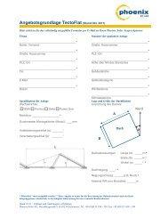 Angebotsgrundlage Tectoflat (Stand Okt. 2011) - Phoenix Solar