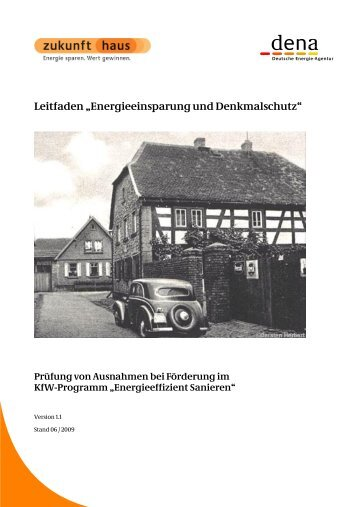 """Leitfaden """"Energieeinsparung und Denkmalschutz"""" - Passivhauskreis"""