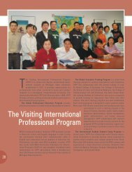 The Visiting International Professional Program - Office of China ...