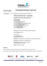 CALENDARIO INVERNALE LANCI 2007 Trofeo ... - Fidal Piemonte