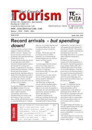ISSUE 543 - April 29th, 2005 - Inside Tourism