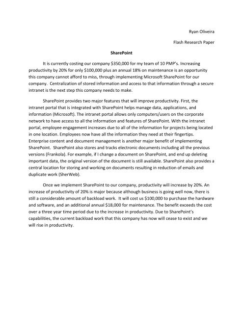 Techniques for research paper