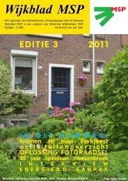 Wijkblad St. Wijkbeheer MSP, ed 3, 2011 - Mijn MSP