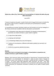 Guida alla scrittura dei formulari di formazione2010 Csv - CSV Marche
