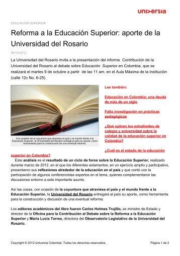 Reforma a la Educación Superior - Noticias - Universia