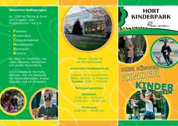 können Sie unseren Flyer herunterladen! (pdf ... - Hort Kinderpark