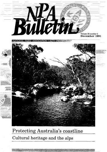 Vol 28 No 4 Dec 1991 - National Parks Association of the ACT