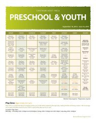 PRESCHOOL & YOUTH - YMCAs