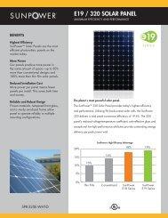 E19 / 320 SOLAR PANEL - Sunpower