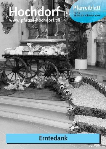 Pfarreiblatt 18-06.qxp - Pfarrei Hochdorf