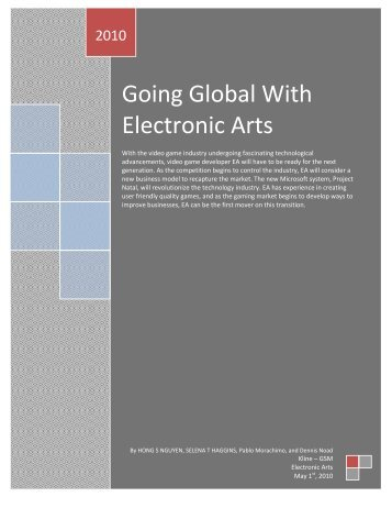 Going global with electronic arts - Temple Fox MIS