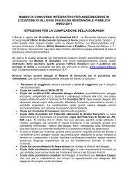 03 Istruzioni e chiarimenti su domanda ERP - Comune di Siena