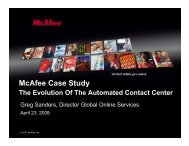 McAfee Case Study - Service Strategies