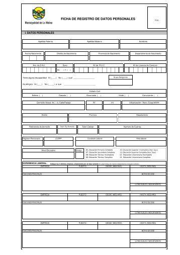 Descargar Ficha de Registro de Datos Personales [Ver]