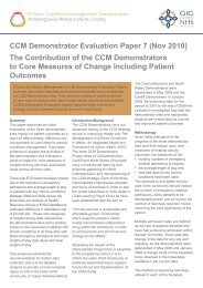 The Contribution of the CCM Demonstrators to Core Measures of ...
