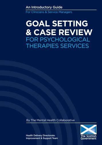 Goal Setting & Case Review for Psychological Therapies Services