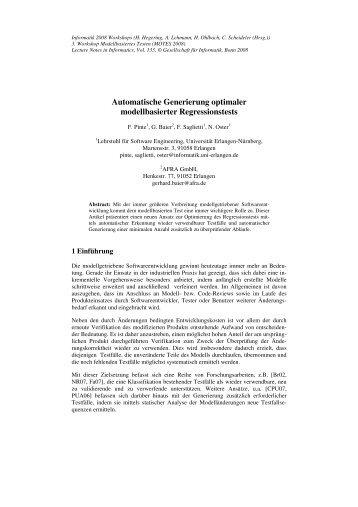 Automatische Generierung optimaler modellbasierter ...