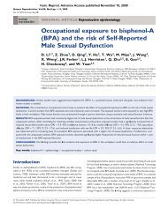 (BPA) and the risk of Self-Reported Male Sexual ... - Above Top Secret