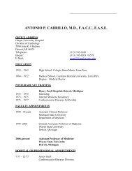 antonio p. carrillo, md, facc, fase - Division of Cardiology - Wayne ...