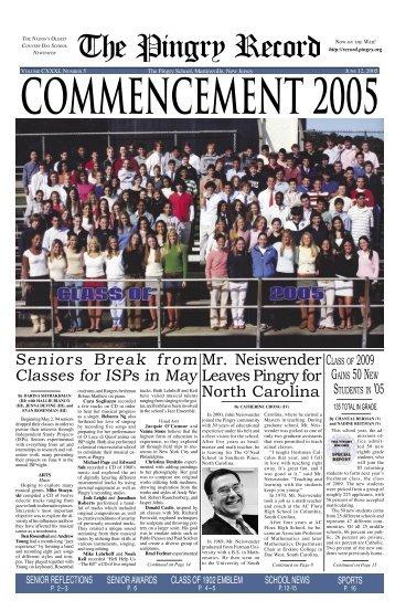 June 12, 2005 - Pingry School