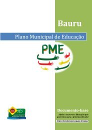Plano Municipal de Educaç - Prefeitura Municipal de Bauru