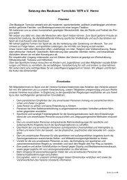 Satzung des Baukauer Turnclubs 1879 e.V. Herne - BTC Herne