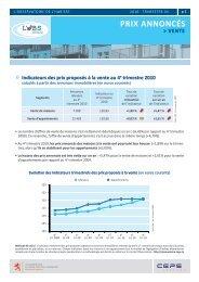 Indicateurs OBS Vente 2010T4 - Ministère du logement