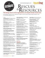 Rescues &Resources - Haute Dog Magazine