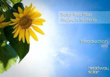 Introduction To Solar Rooftop Systems In India - Headway Solar