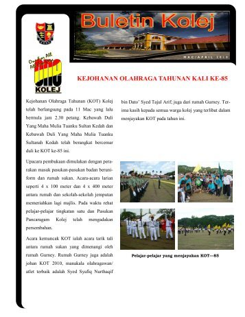 Buletin Kolej Edisi Mac-April 2010