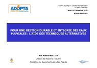 Techniques alternatives de gestion des eaux pluviales - Agence ...