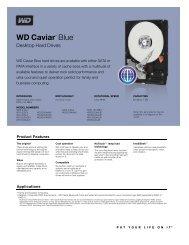 WD Caviar Blue Series Disti Spec Sheet - Western Digital
