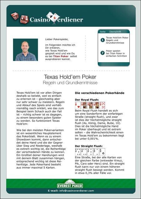 Poker beim höchste hand Offizielle Reihenfolge