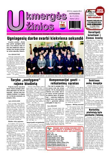 2012-02-28 - Ukmergės žinios