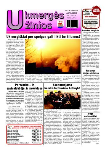 2012-02-07 - Ukmergės žinios