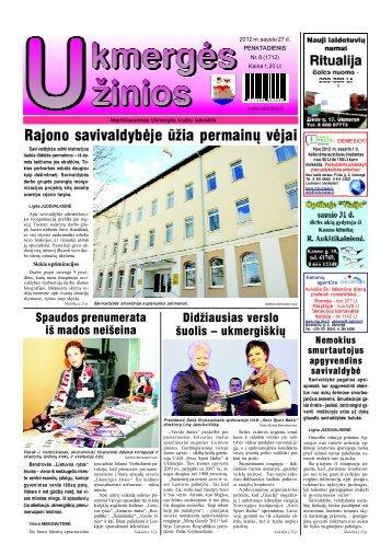 2012-01-27 - Ukmergės žinios