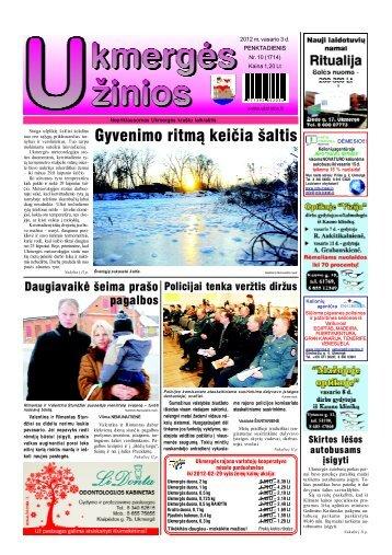 2012-02-03-UZ-1 dalis - Ukmergės žinios