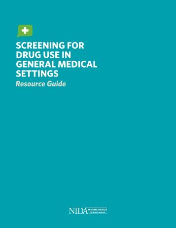Screening for Drug Use in General Medical Settings - Substance ...