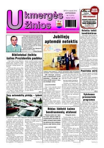 2012-01-24 - Ukmergės žinios