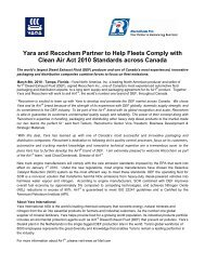 Press Release - Recochem Inc.