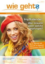Ausgabe 39/2013 - Magazin für Gesundheit in Schleswig-Holstein