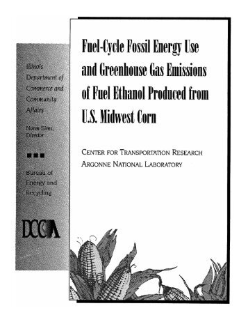 Fuel-Cycle Fossil Energy Use and Greenhouse Gas Emissions of ...