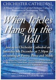 Icicle Poster - Chichester Cathedral