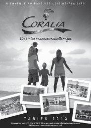2013 - Les vacances nouvelle vague T A R I F S 2 0 1 3 - Coralia
