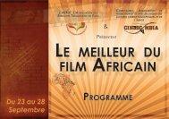 LE MEILLEUR DU FILM AFRICAIN - cinema-midipyrenees
