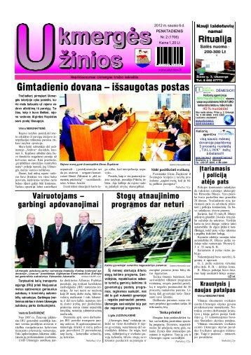 2012-01-06-1 dalis - Ukmergės žinios